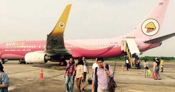 ระทึก!! เครื่องนกแอร์ DD7805 ชนนกระหว่างบิน ขอลงจอดฉุกเฉินสนามบินสุราษฎร์